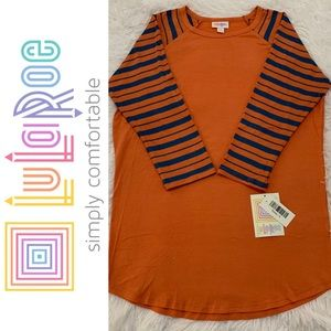 LuLaRoe Randy Stripes Baseball Tee